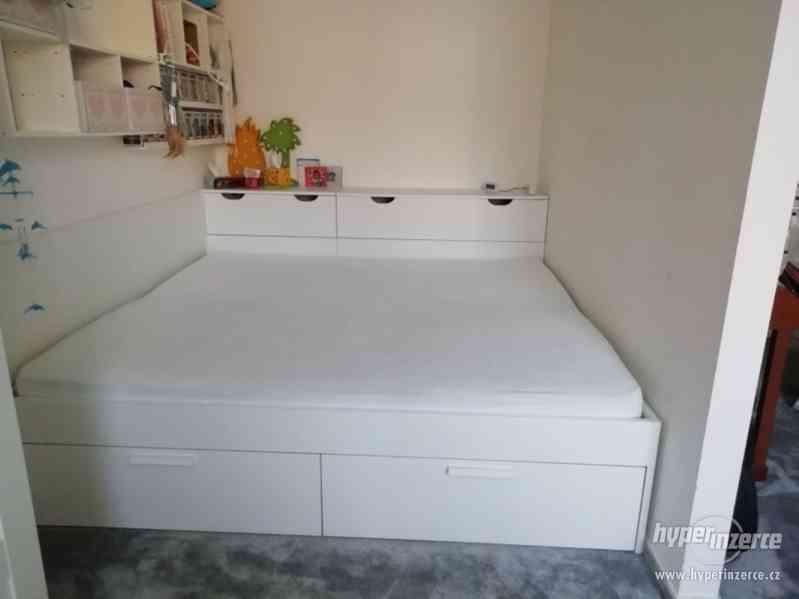 Postel Brimnes bílá 180x200 IKEA