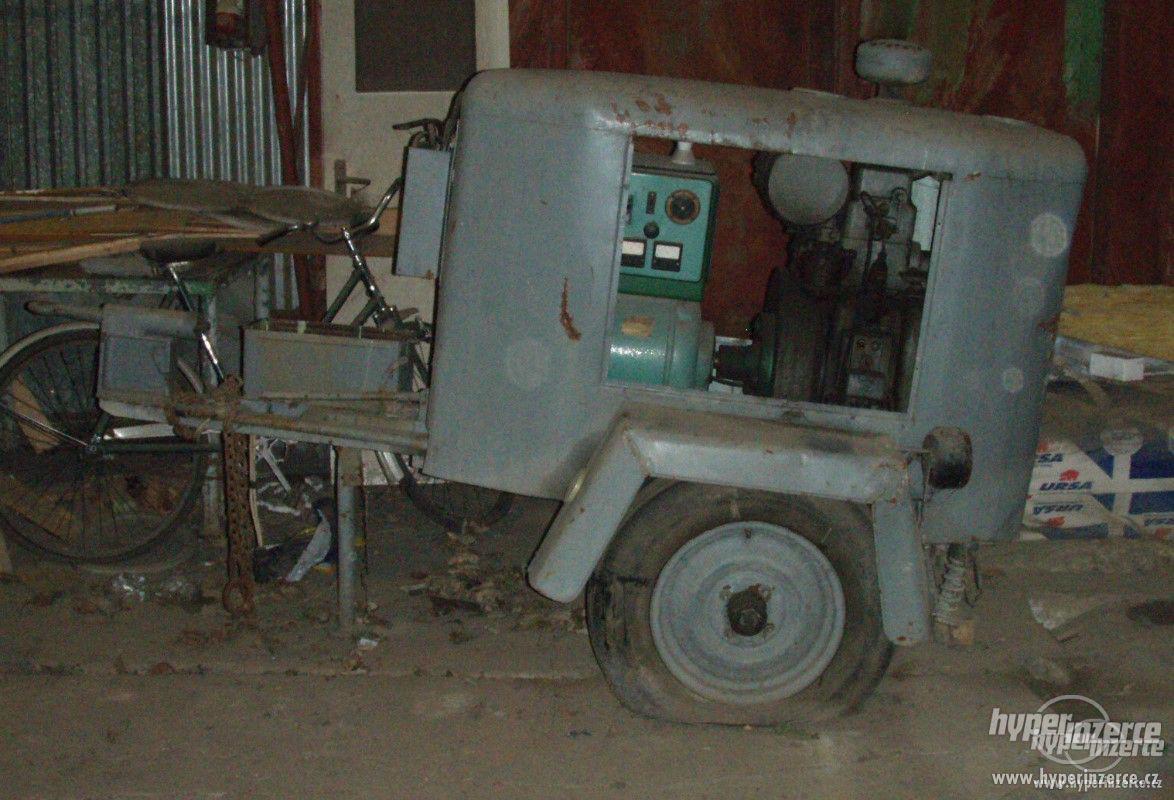 koupím elektrocentrálu na podvozku s naftovým motorem Slavia - foto 1
