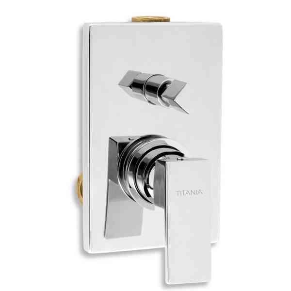 Vodovodní Baterie Titania Cube, vanová, sprchová podomítková s přep., chrom 98850R