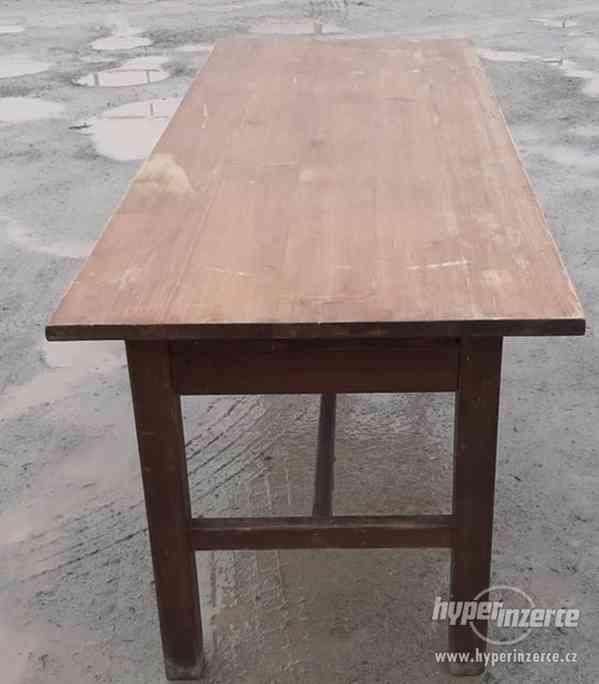 Stůl jídelní celodřevěný 80x210 cm, výška 80 cm (14972.) - foto 2