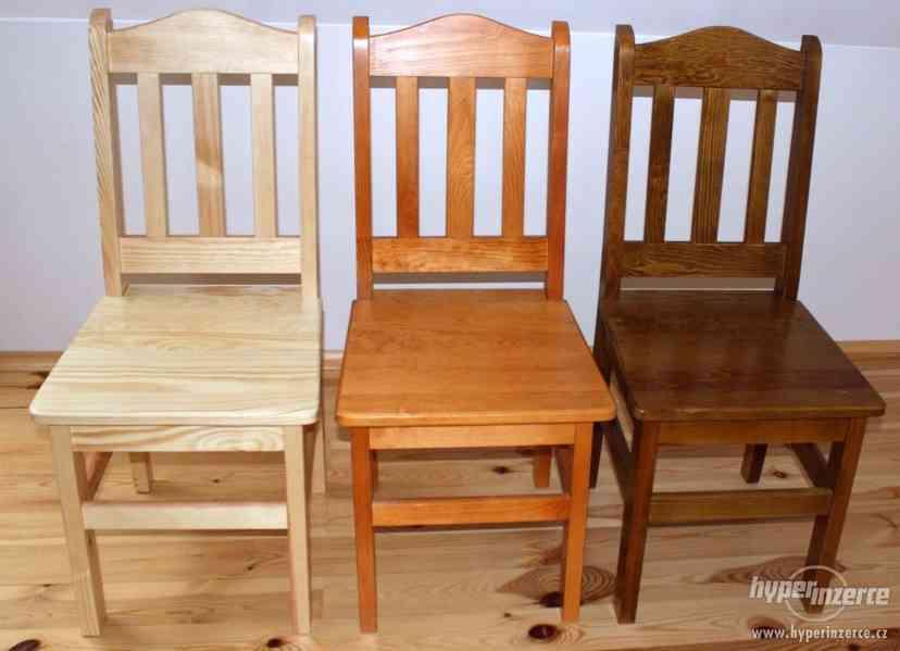Nové Levné čepované dřevěné židle do hospody - foto 1