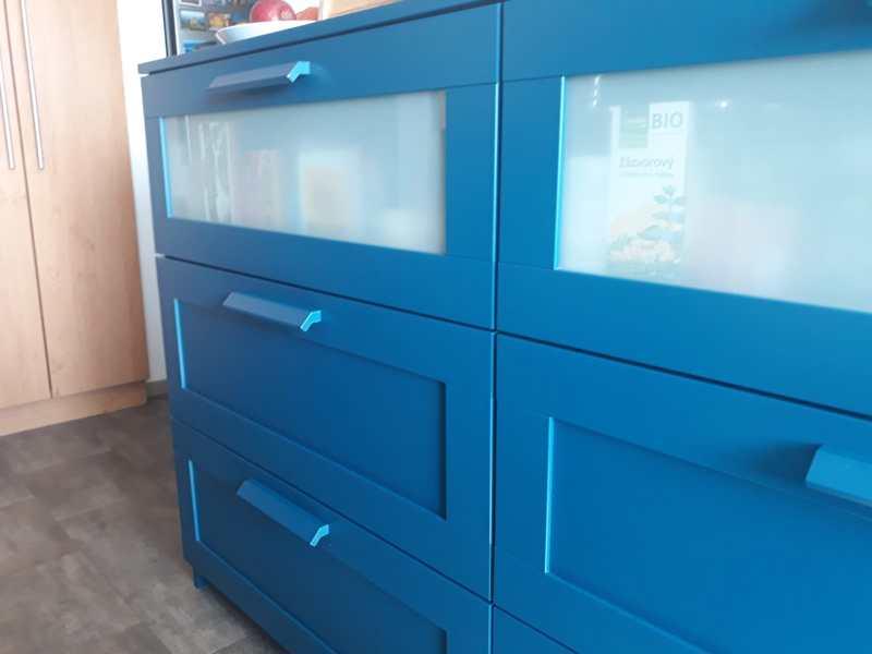Komoda Ikea Brimnes 78x95 cm modrá - foto 3