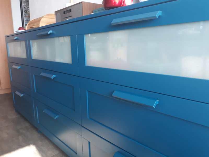 Komoda Ikea Brimnes 78x95 cm modrá - foto 2
