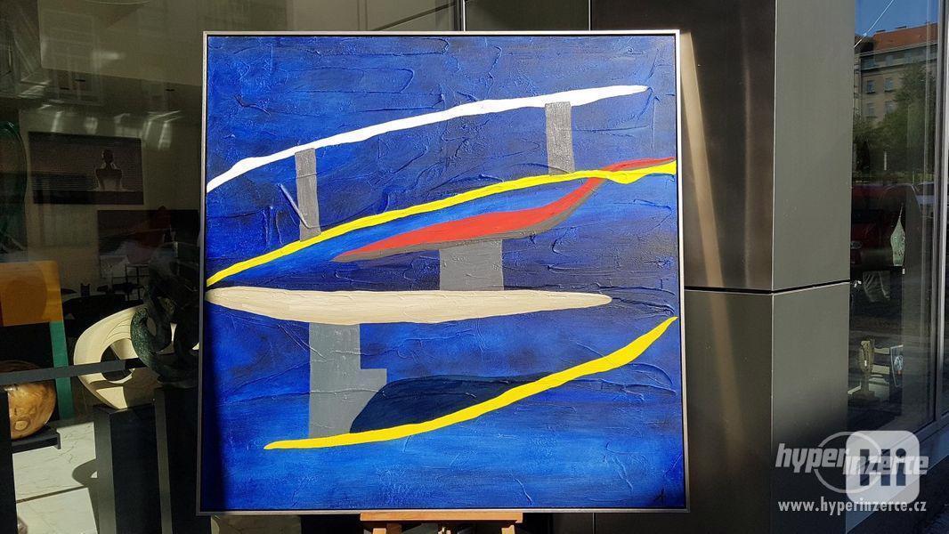 Moderní abstraktní obraz - VELKOFORMÁT - foto 2
