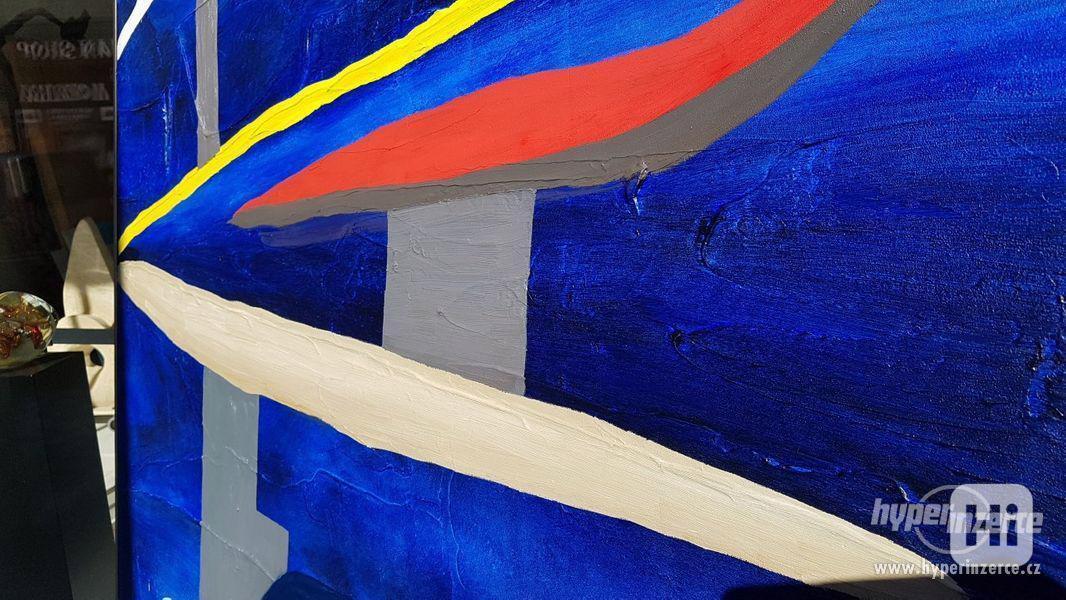 Moderní abstraktní obraz - VELKOFORMÁT - foto 5