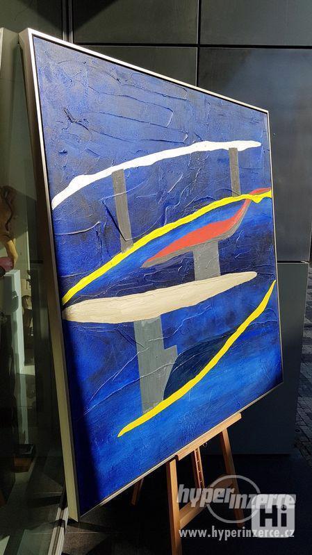 Moderní abstraktní obraz - VELKOFORMÁT - foto 6