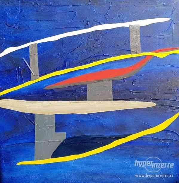 Moderní abstraktní obraz - VELKOFORMÁT