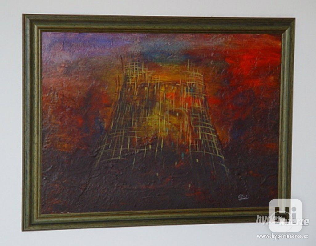 Milan Dušek, olej na kartonu, signovaný - foto 1