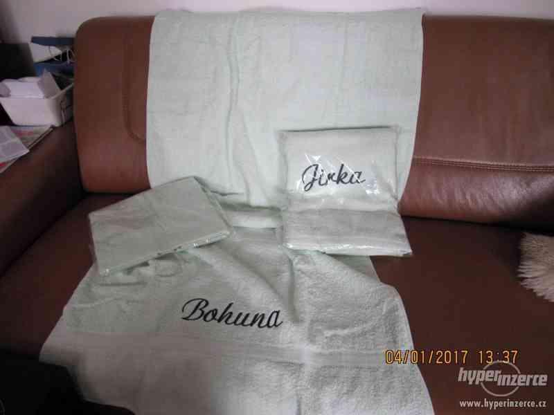 Osuška froté se jménem 2x+ručník ZDARMA-NOVÉ - foto 4