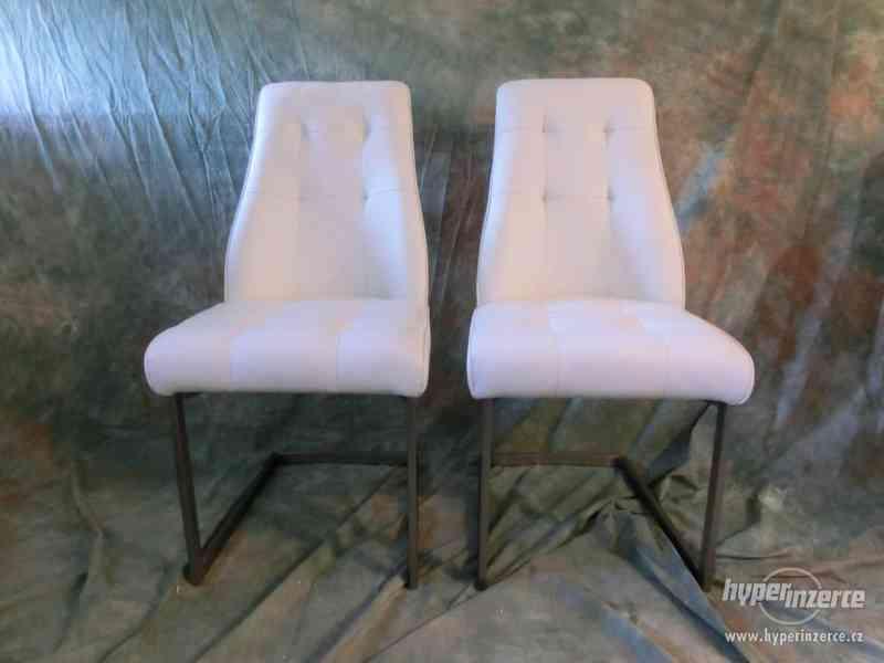 Nová jídelní židle bílá set 2ks