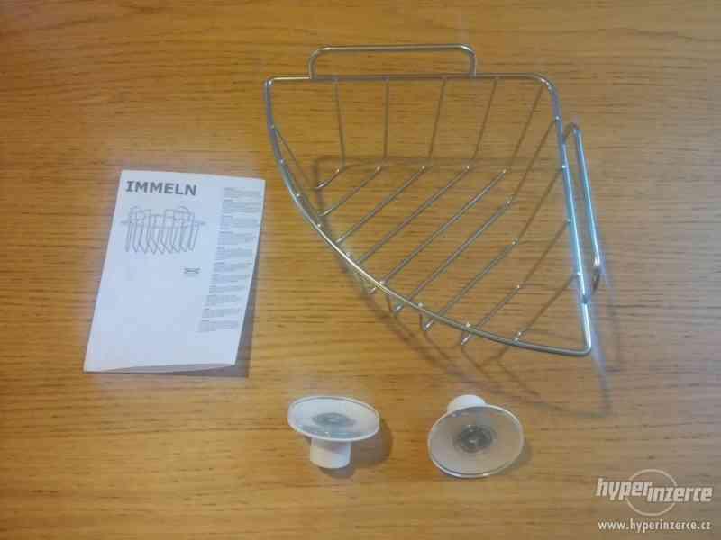 Závěsná rohová police IKEA (řada IMMELN) - nepoužité!