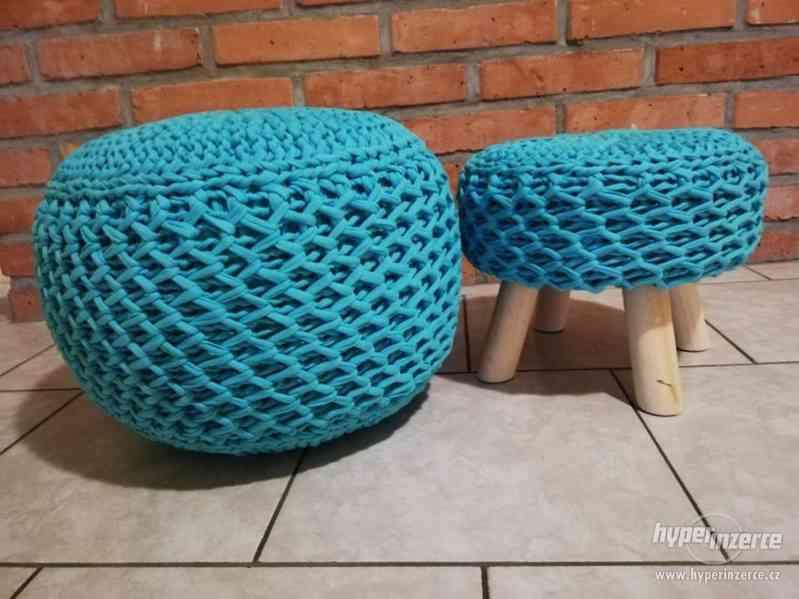 Ručně vyráběný Puf se stoličkou | by Kreativní Anděl