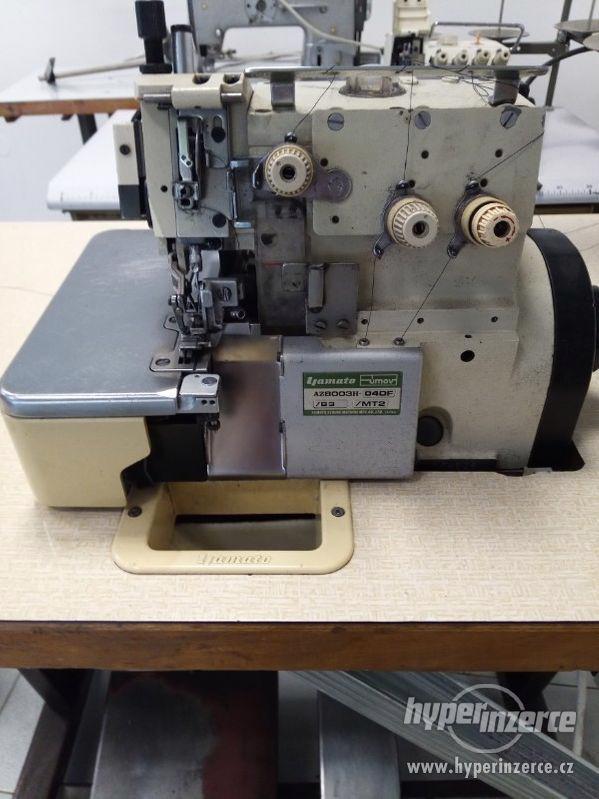 průmyslový šicí stroj overlok