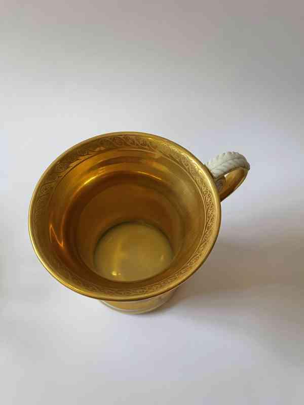 Porcelánový šálek podšálek - silně zlaceno - foto 5