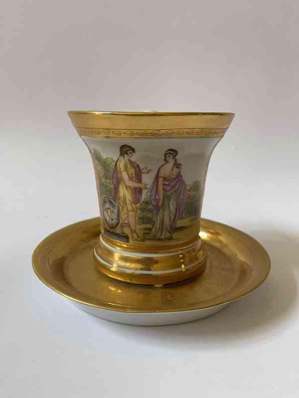 Porcelánový šálek podšálek - silně zlaceno - foto 2