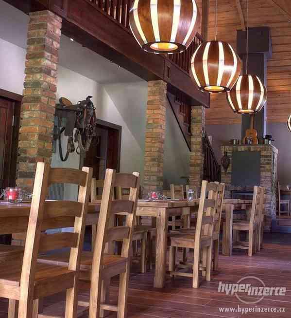 Nove Stylove drevene zidle do restaurace -voskovane ne - foto 2
