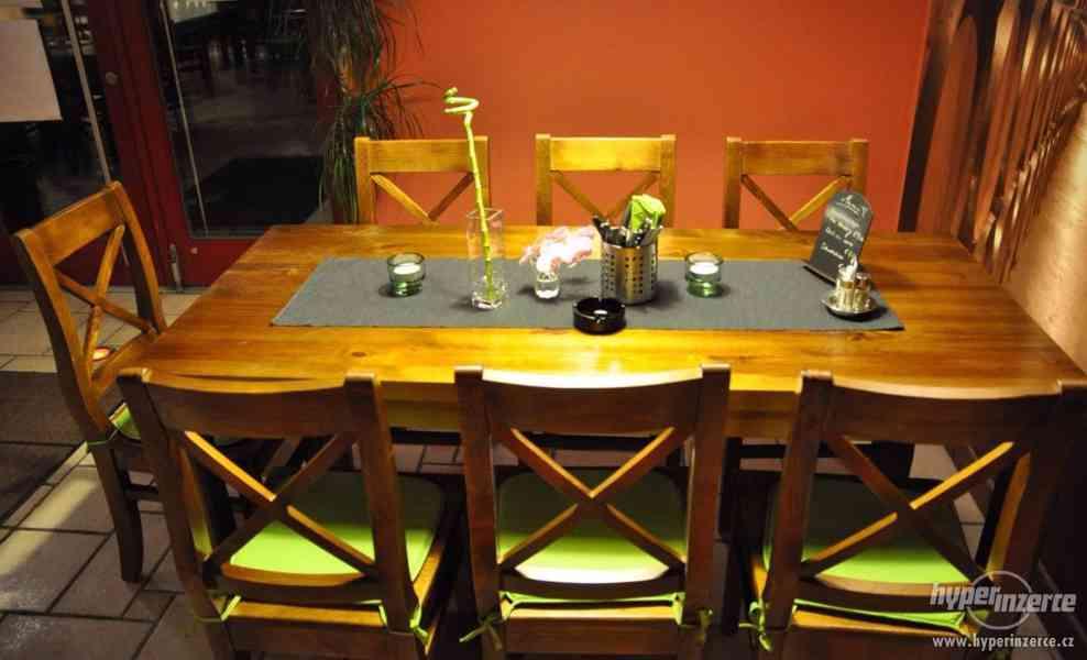 Nove Stylove drevene zidle do restaurace -voskovane ne - foto 4
