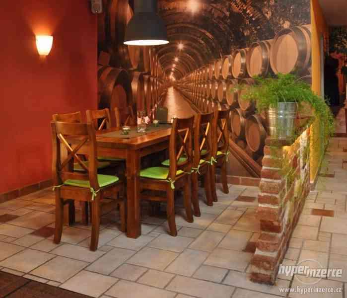 Nove Stylove drevene zidle do restaurace -voskovane ne - foto 5